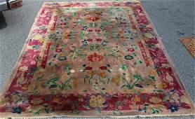 Art Deco Roomsize Handmade Chinese Carpet.