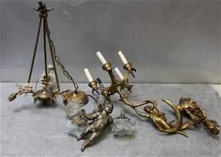 Bronze Figural Lighting Lot