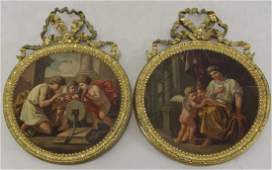 18th/19th C. French School. Pair of Oils on Panel