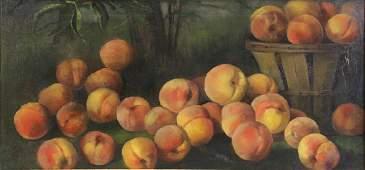 "OLIVER, Cecelia. Oil on Canvas. ""The Peach"