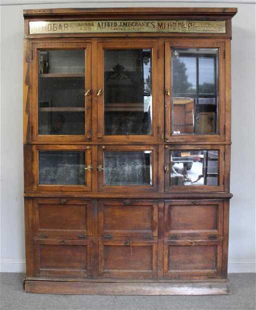 - Magnificent Antique Cuban Cigar Store Cabinet