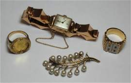 JEWELRY Assorted Gold Jewelry Grouping