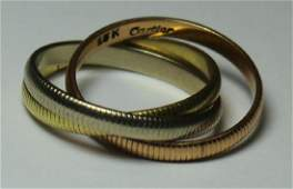 JEWELRY Cartier TriColor 18kt Gold Ring