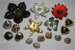 JEWELRY. Assorted Grouping of Gold and Designer