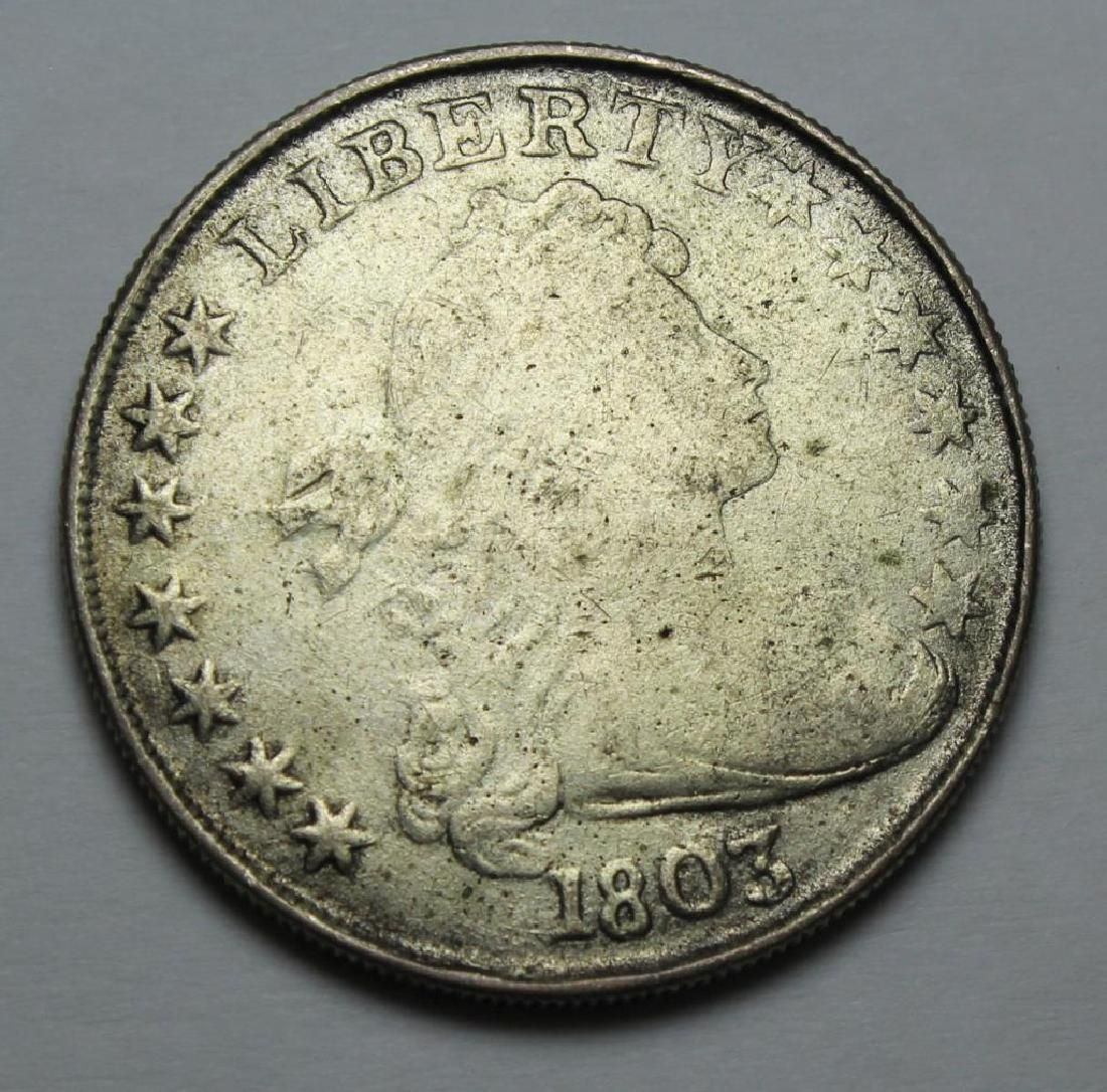 COIN. 1803 United States Draped Bust Coin.