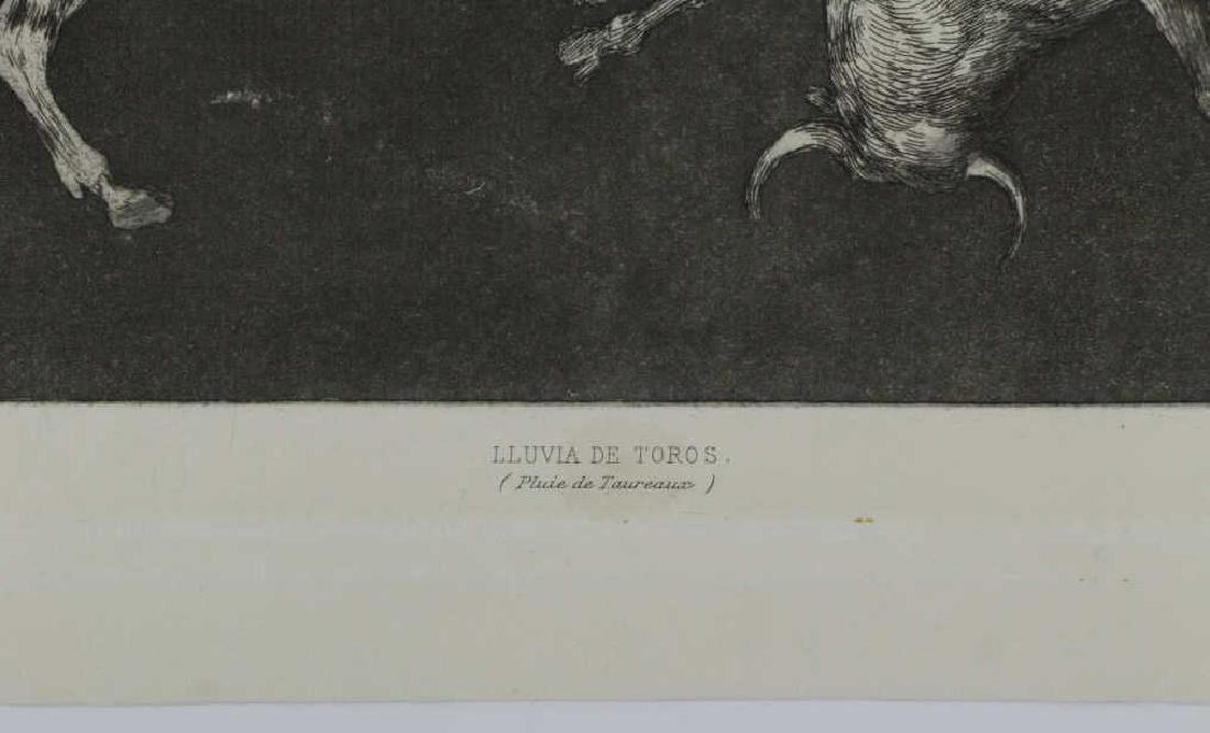 """GOYA Y LUCIENTES, Francisco. """"Lluvia de Toros"""" - 4"""