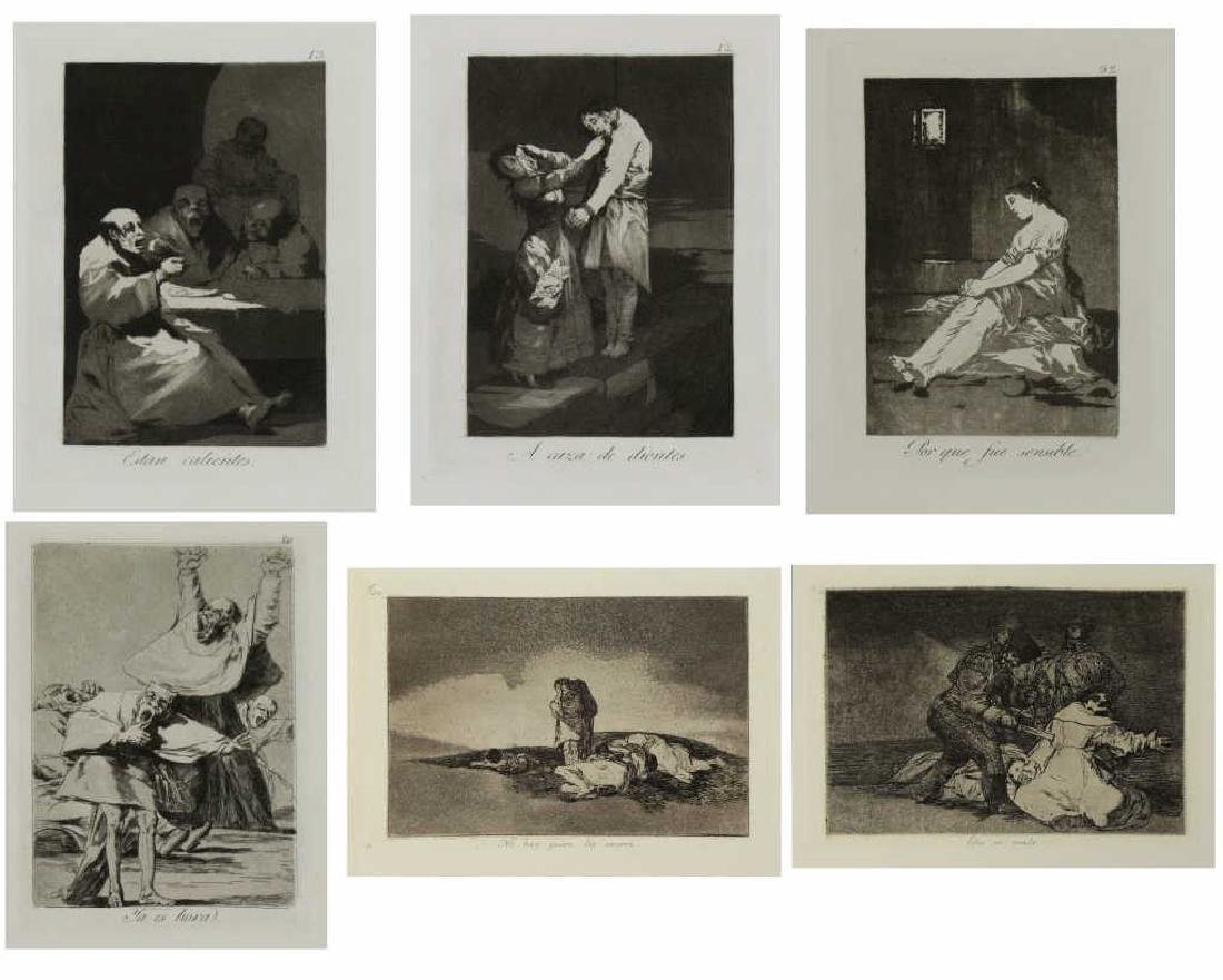 GOYA Y LUCIENTES, Francisco. Group of Six Etchings