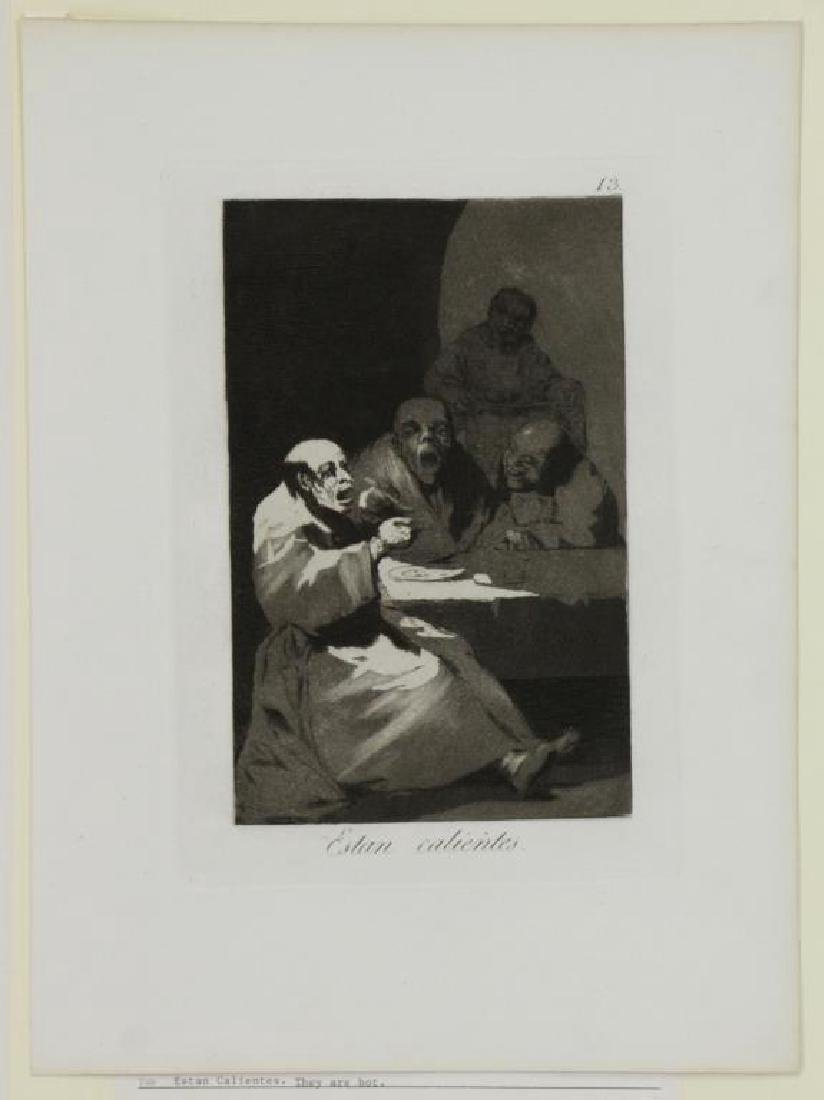 GOYA Y LUCIENTES, Francisco. Group of Six Etchings - 2