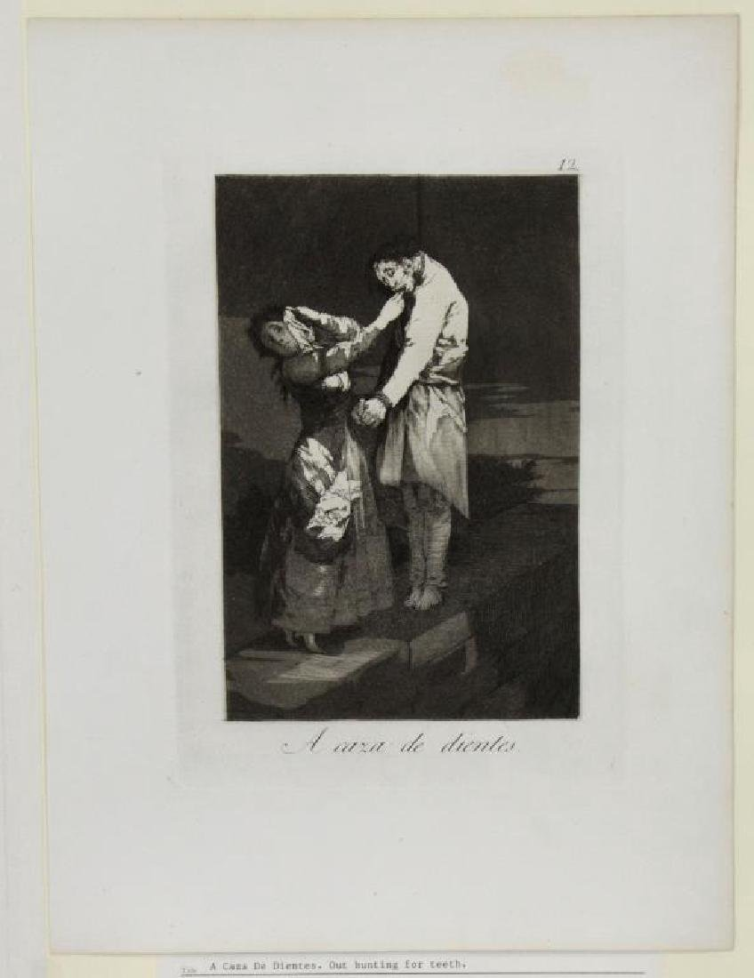 GOYA Y LUCIENTES, Francisco. Group of Six Etchings - 3