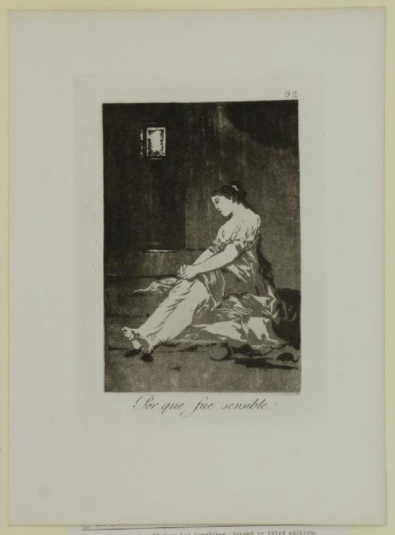 GOYA Y LUCIENTES, Francisco. Group of Six Etchings - 4