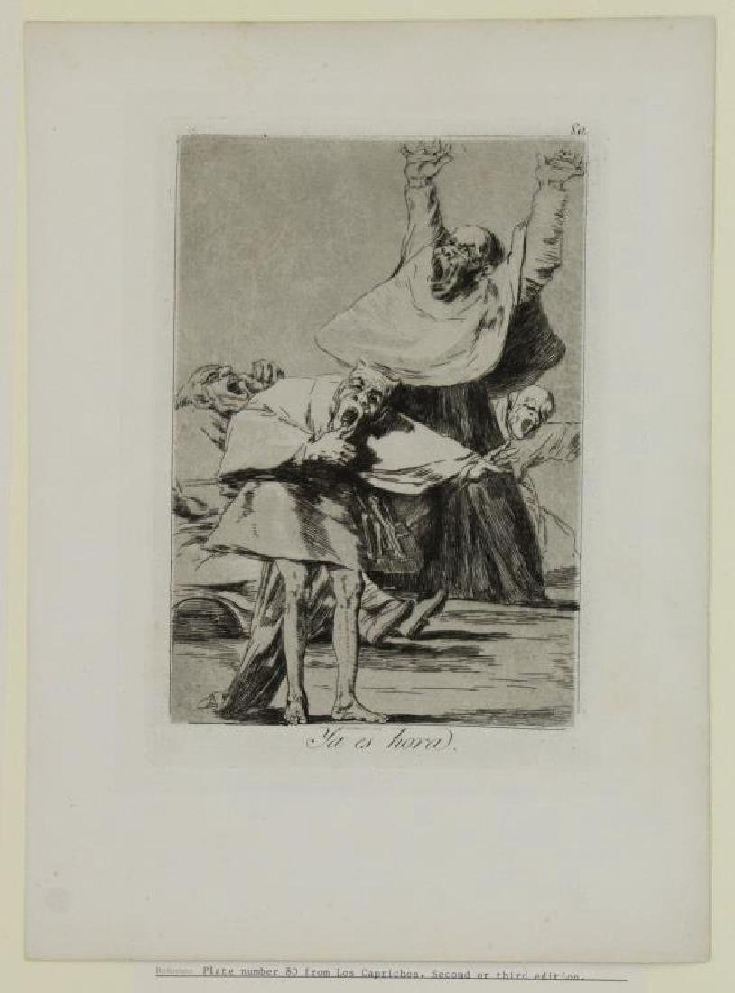 GOYA Y LUCIENTES, Francisco. Group of Six Etchings - 5