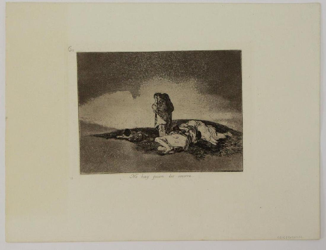 GOYA Y LUCIENTES, Francisco. Group of Six Etchings - 6