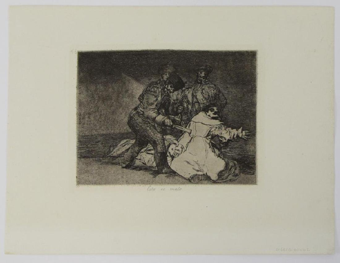 GOYA Y LUCIENTES, Francisco. Group of Six Etchings - 7