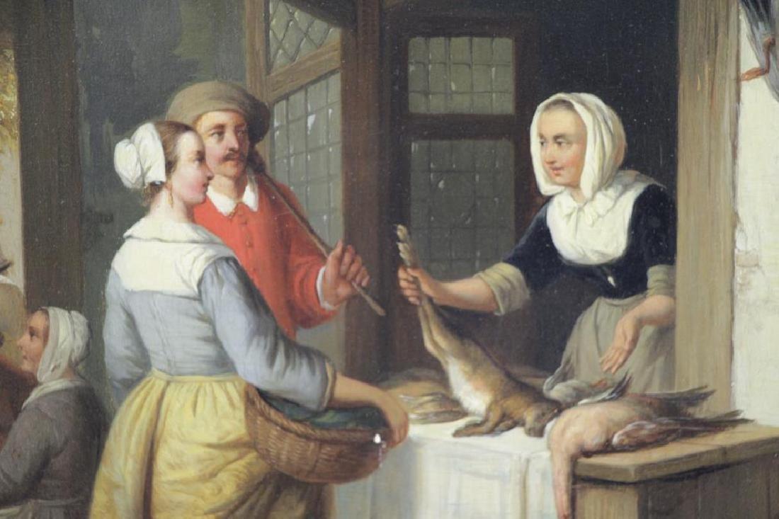 CARPENTERO, Henri. Oil on Panel. Woman Selling - 3