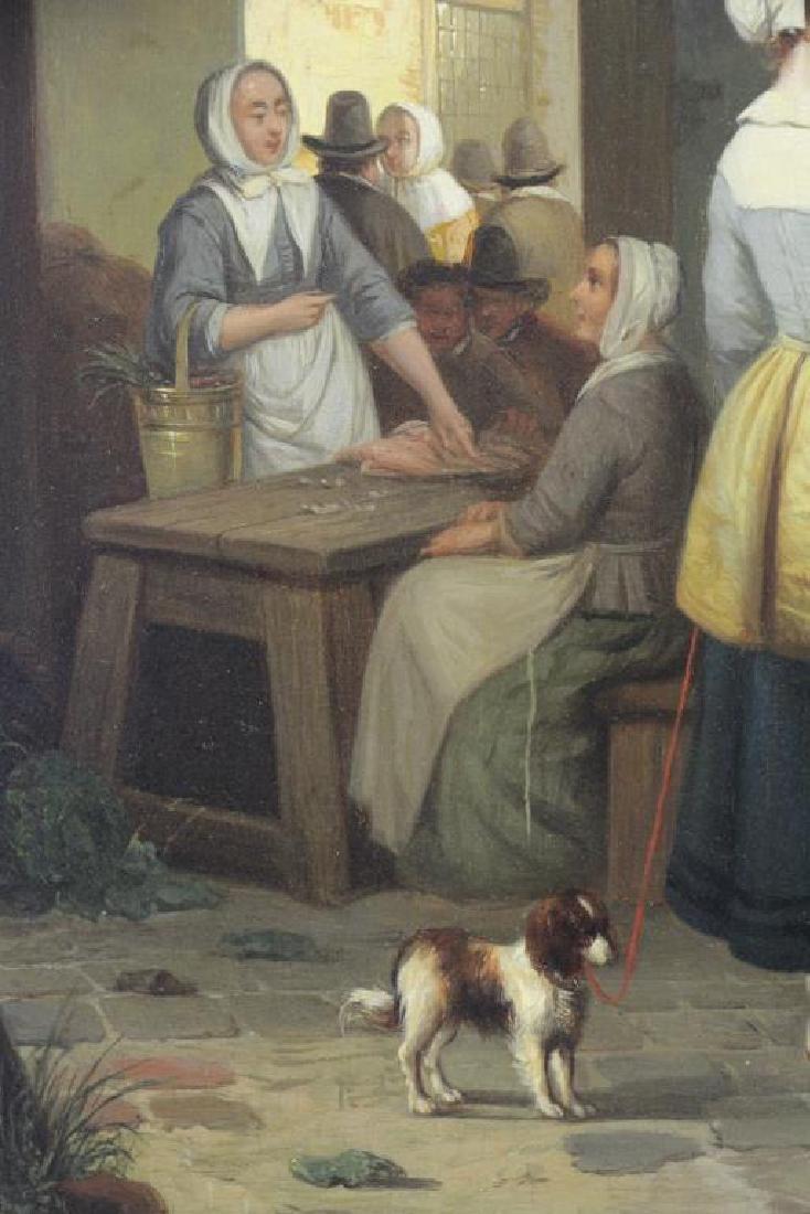 CARPENTERO, Henri. Oil on Panel. Woman Selling - 4