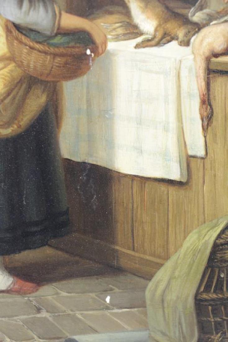 CARPENTERO, Henri. Oil on Panel. Woman Selling - 7