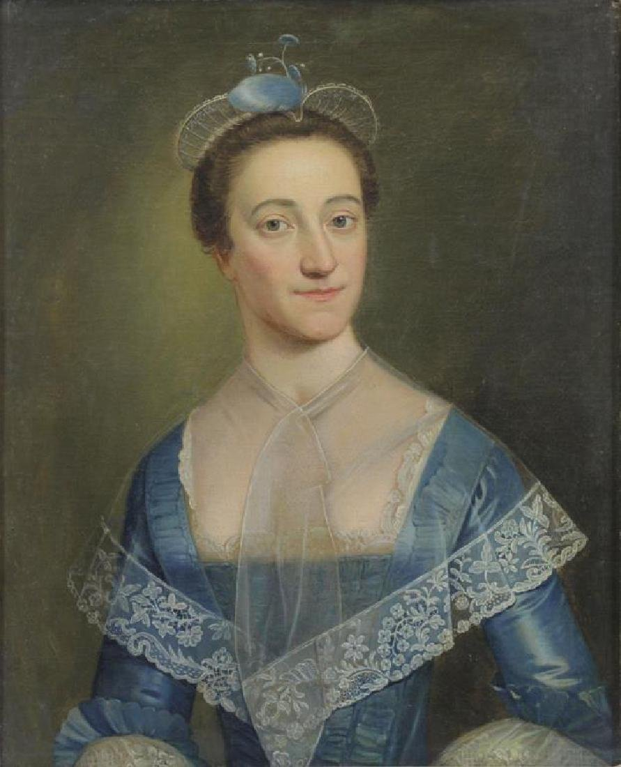 19th C. Oil on Canvas. Portrait of a Lady.