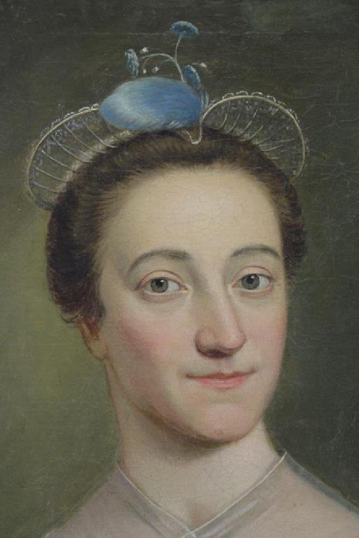 19th C. Oil on Canvas. Portrait of a Lady. - 3