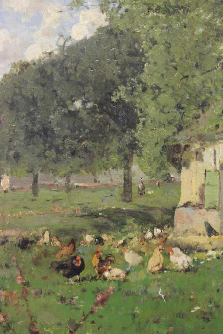 VIOLLET-LE-DUC, Victor. Oil on Canvas. Farmyard - 3