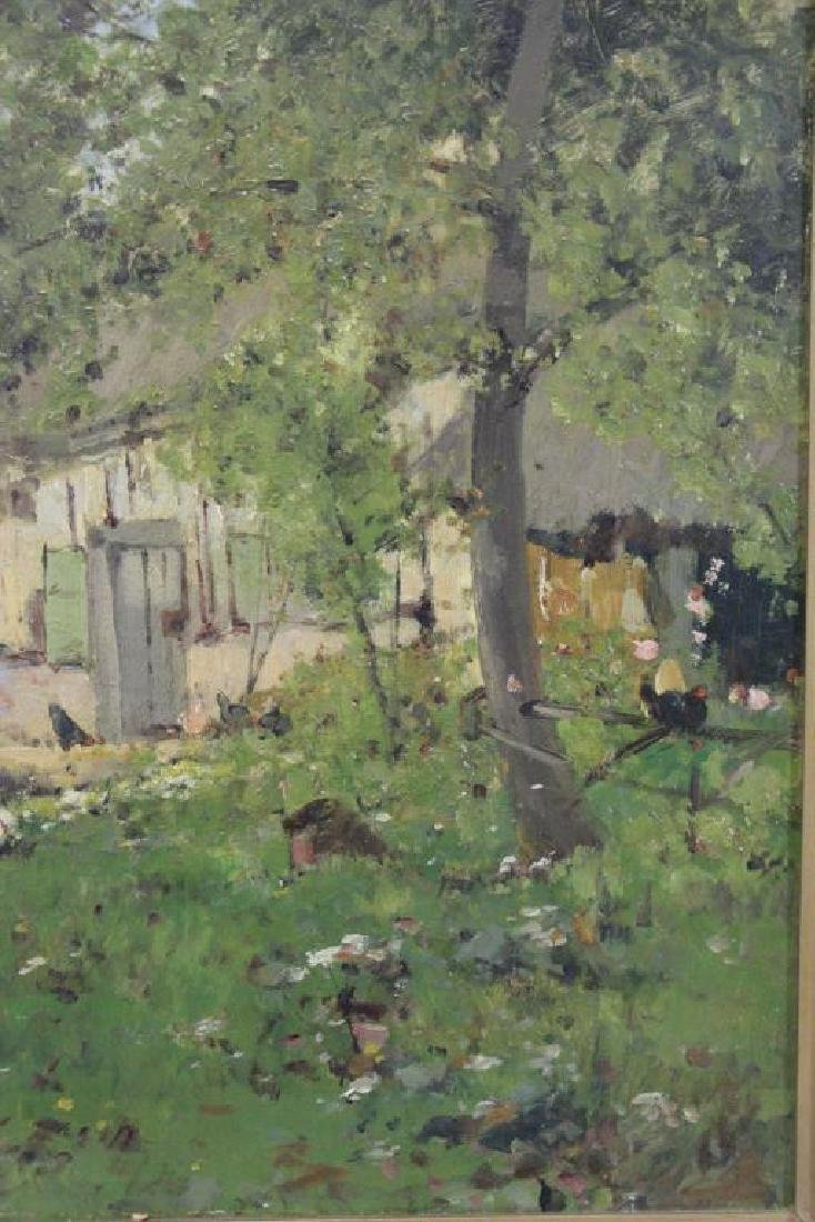 VIOLLET-LE-DUC, Victor. Oil on Canvas. Farmyard - 5