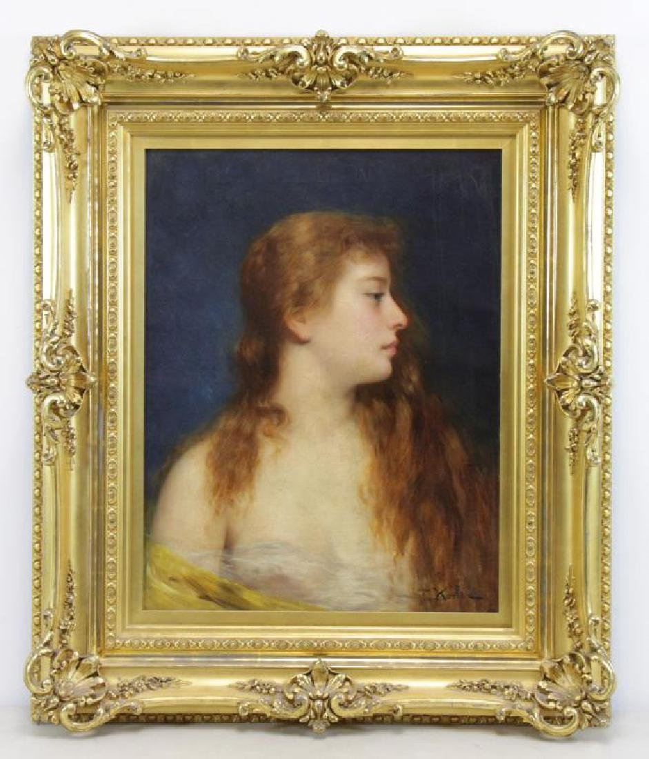 KOSLER, Franz. Oil on Canvas. Portrait of a Young - 2