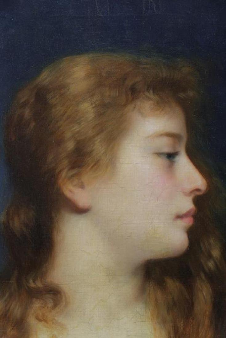 KOSLER, Franz. Oil on Canvas. Portrait of a Young - 3