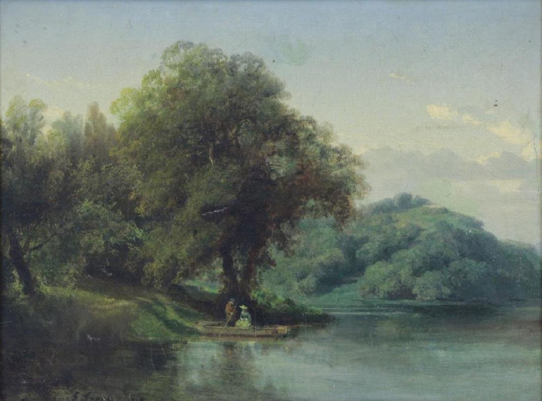 After George Inness. Oil on Canvas. River