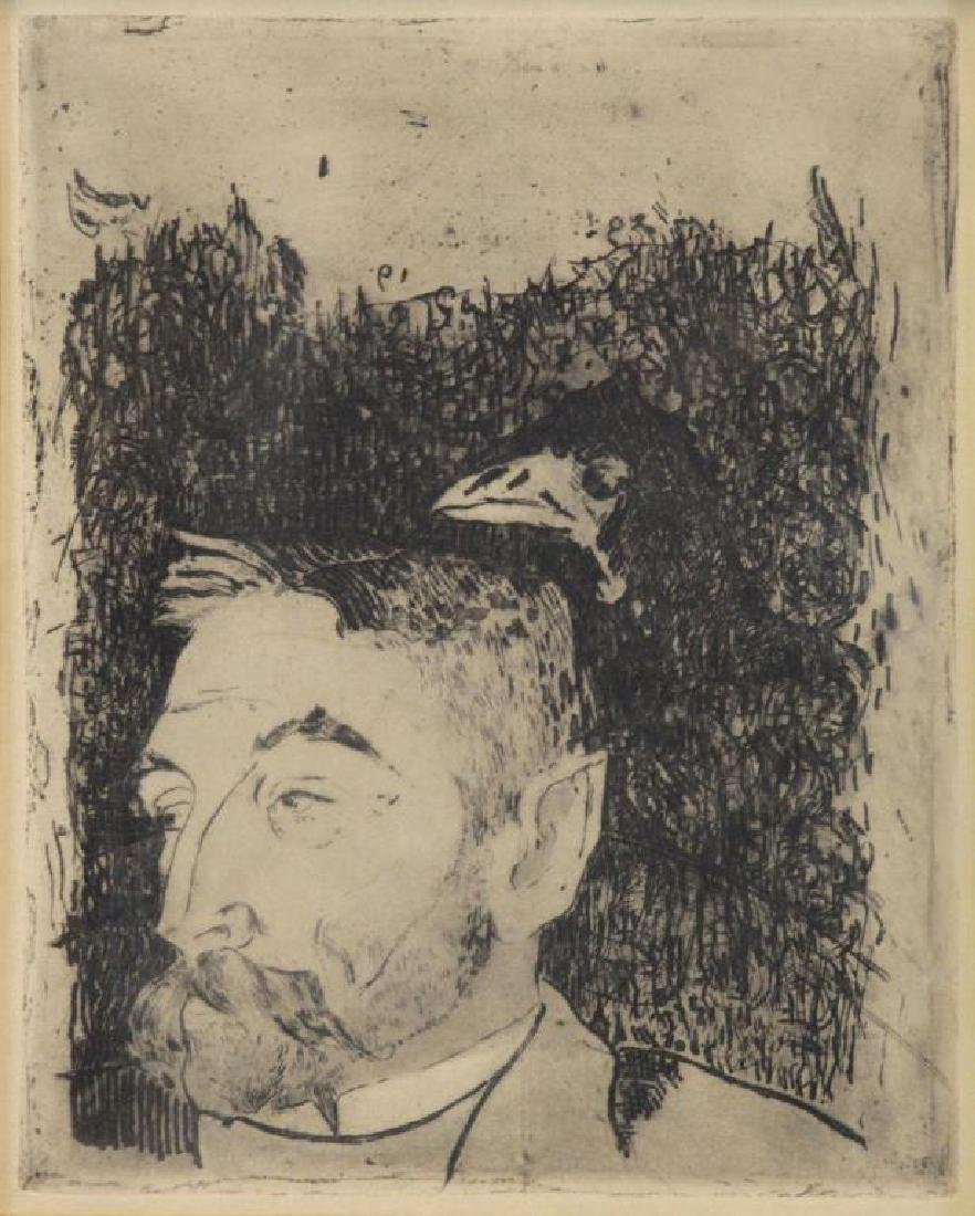 "GAUGIN, Paul. Etching ""Portrait de Stephane"