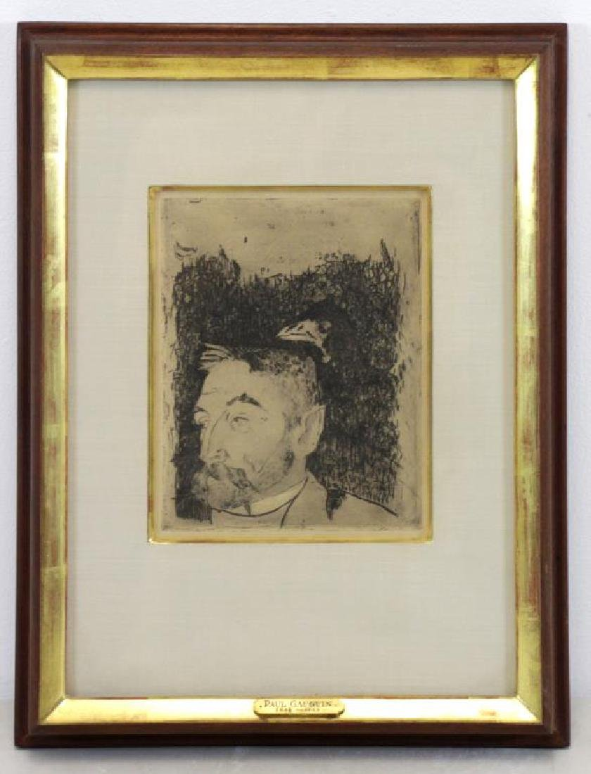"GAUGIN, Paul. Etching ""Portrait de Stephane - 2"