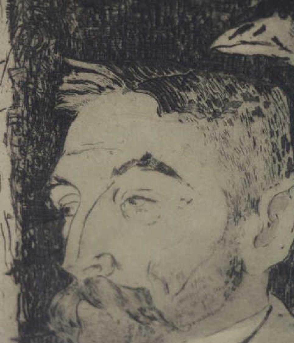 "GAUGIN, Paul. Etching ""Portrait de Stephane - 3"