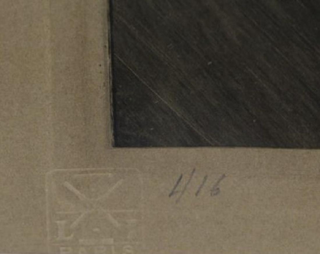 """ICART, Louis. Drypoint Etching. """"Zest"""" (L' Elan) - 6"""