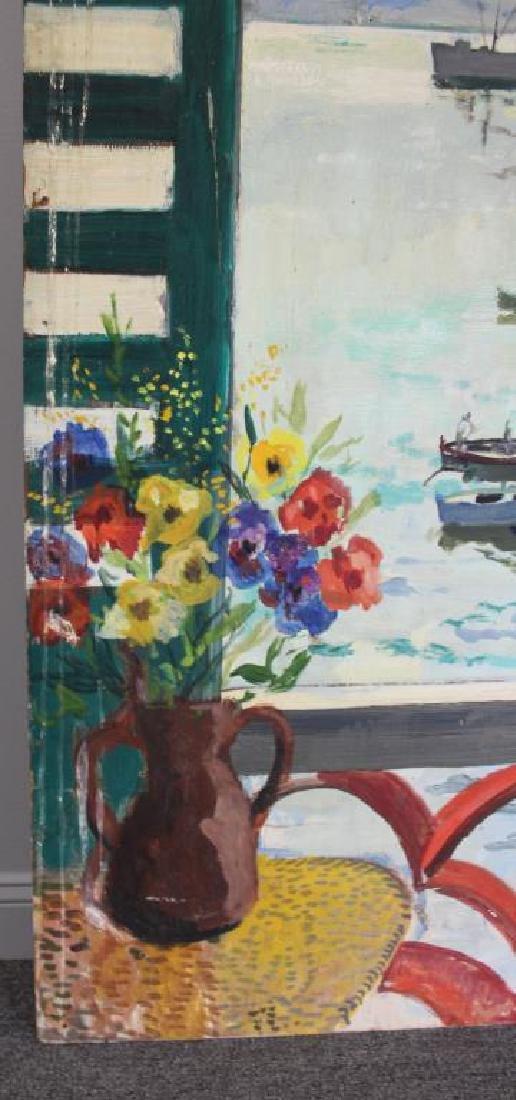 LAMOTTE, Bernard. Oil on Plywood. Harbor Scene. - 5