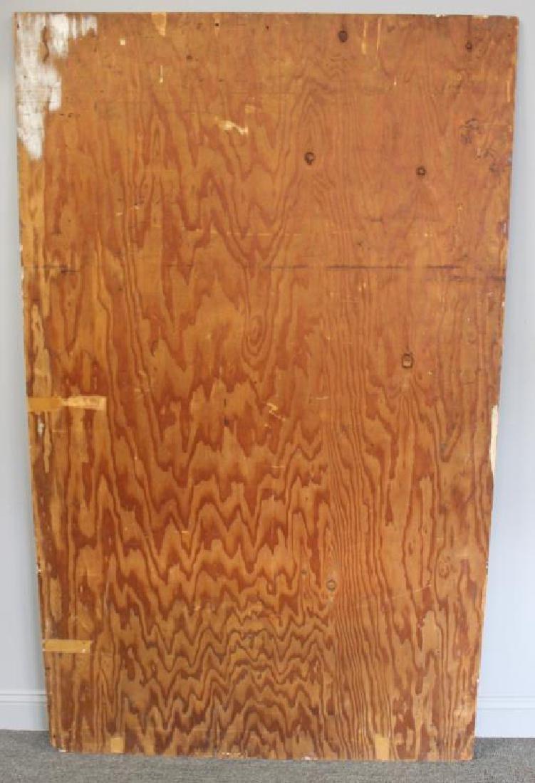 LAMOTTE, Bernard. Oil on Plywood. Harbor Scene. - 7