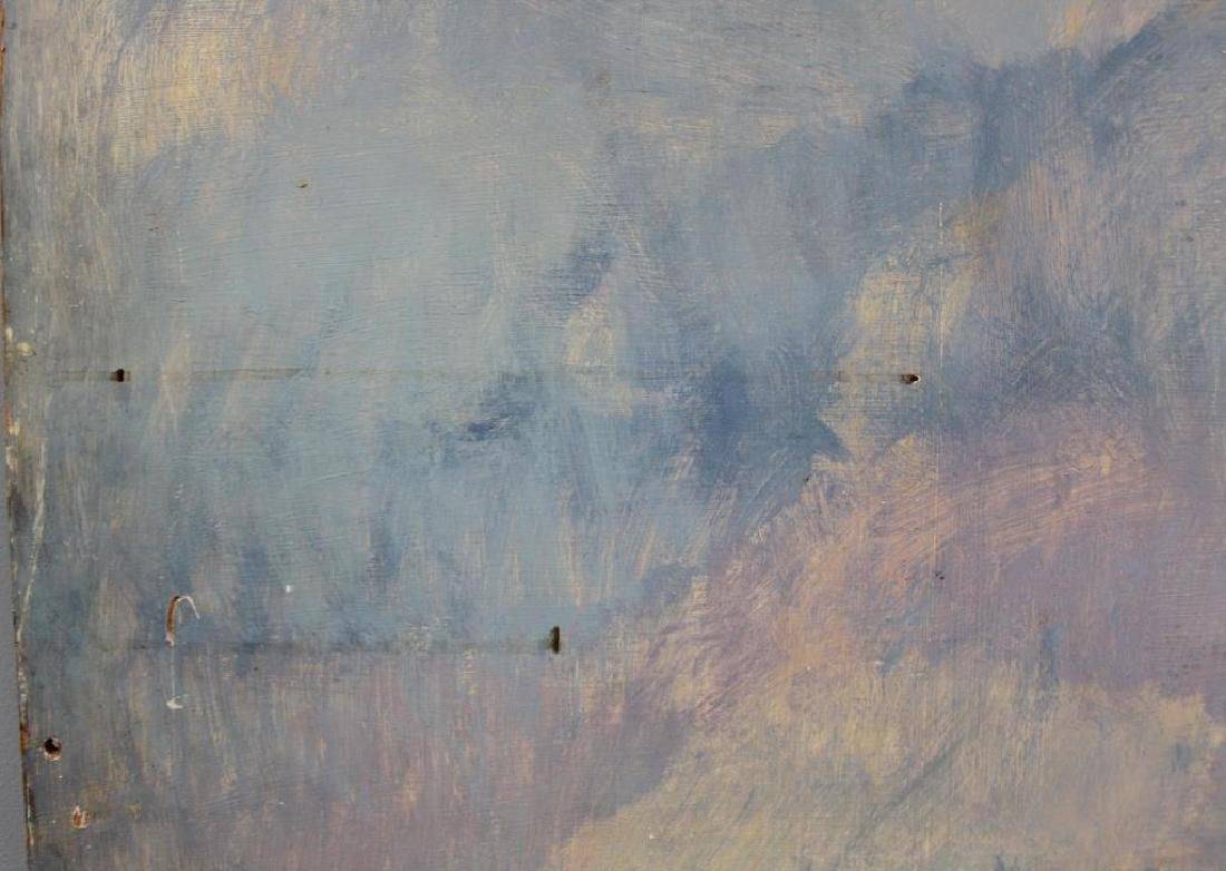LAMOTTE, Bernard. Oil on Plywood. Paris Rooftops. - 4