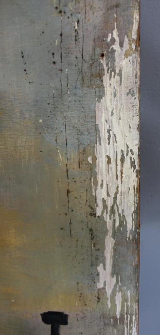 LAMOTTE, Bernard. Oil on Plywood. Paris Rooftops. - 8