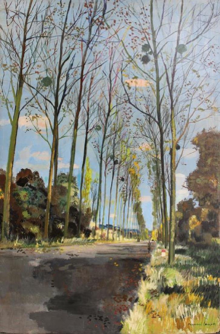 LAMOTTE, Bernard. Oil on Plywood. Country Lane.
