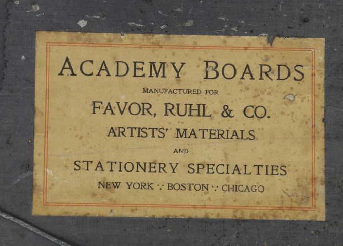 OWEN, Robert E. Oil on Board. Mountain Locomotive. - 8