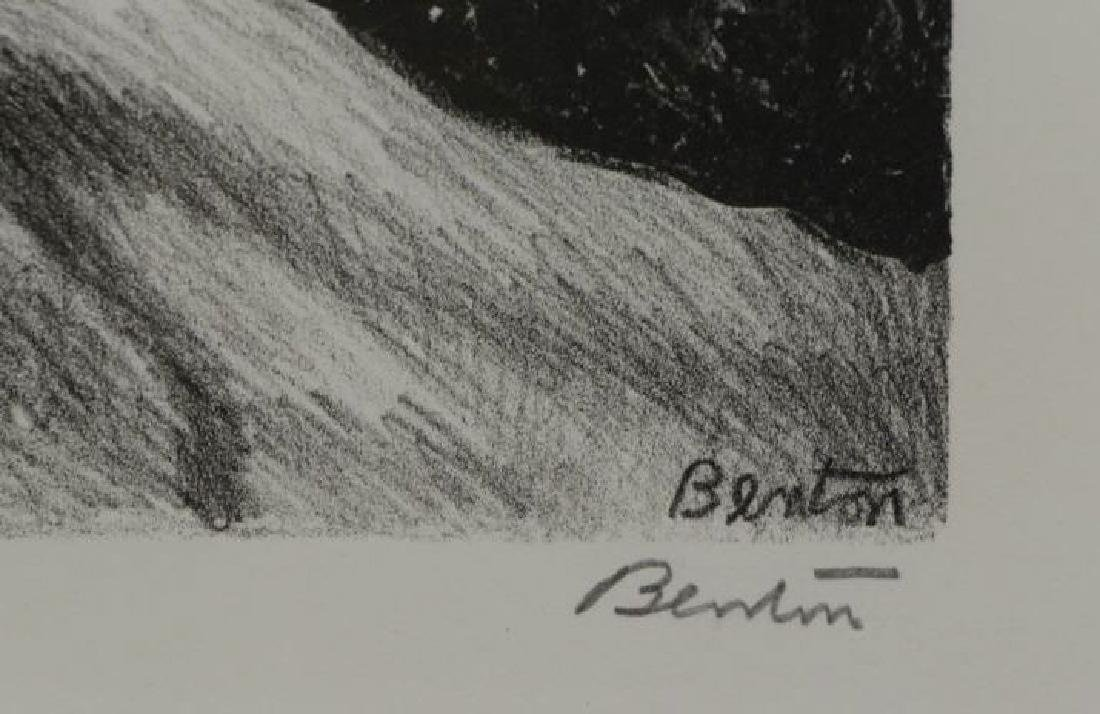 """BENTON, Thomas Hart. Lithograph. """"Goin' Home"""" - 4"""