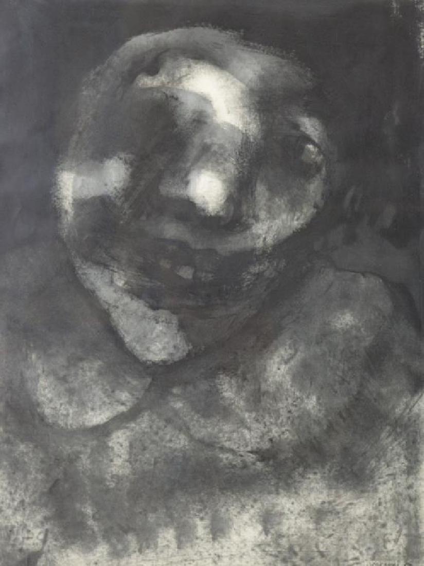 CORONEL, Rafael. Ink on Paper. Figure, 1958.