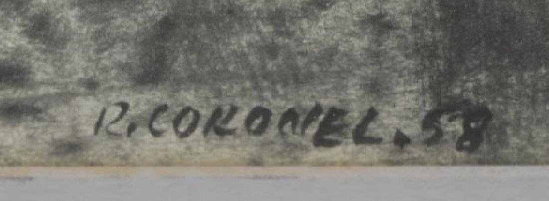 CORONEL, Rafael. Ink on Paper. Figure, 1958. - 3