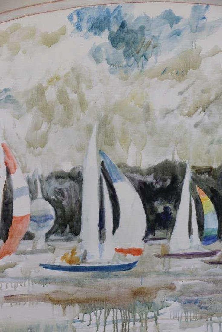 "KELLEY, Chapman. Oil on Canvas. ""Sailboats with - 3"