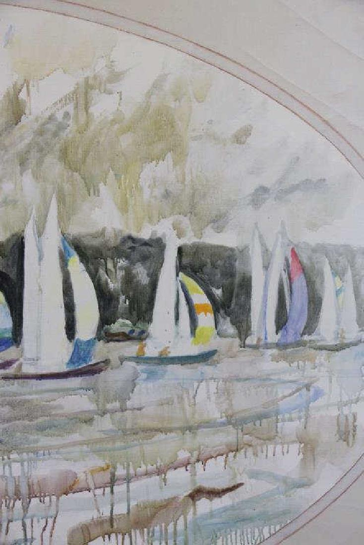 "KELLEY, Chapman. Oil on Canvas. ""Sailboats with - 4"