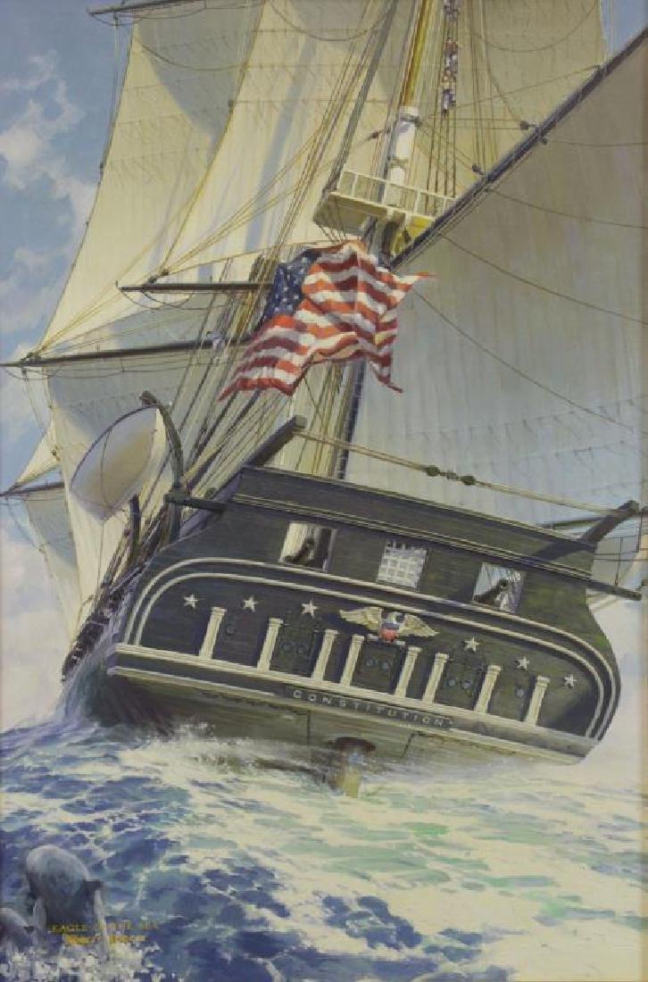 "STICKER, Robert. Oil on Canvas. ""Eagle of the Sea"""