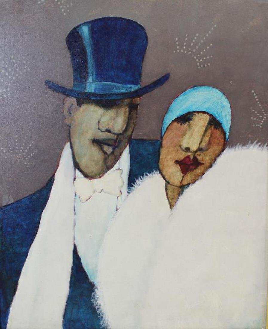 BOOKER, Stephen H. Oil on Canvas. Couple