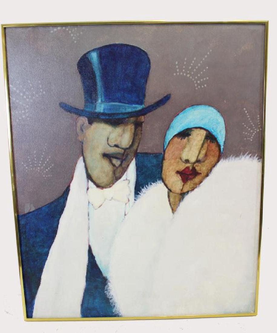 BOOKER, Stephen H. Oil on Canvas. Couple - 2