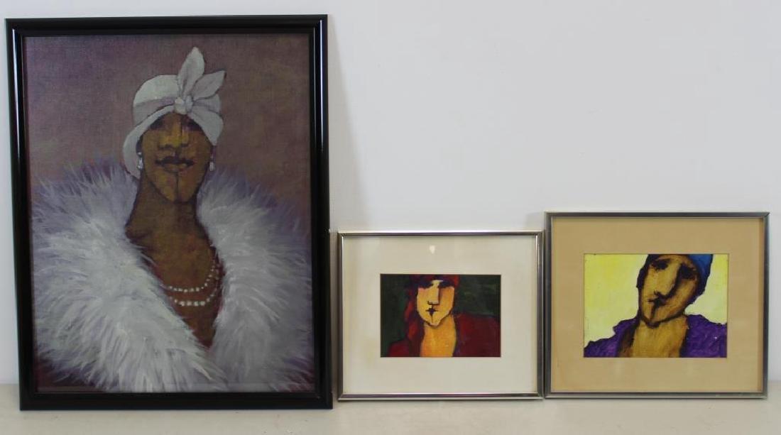 BOOKER, Stephen H. Oil on Board. 3 Portraits.