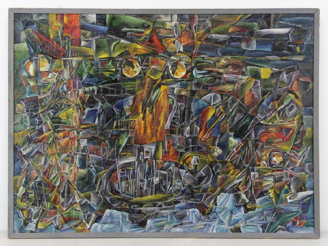 "LEONOV, Aleksei. Oil on Canvas. ""Evening Flight"" - 2"