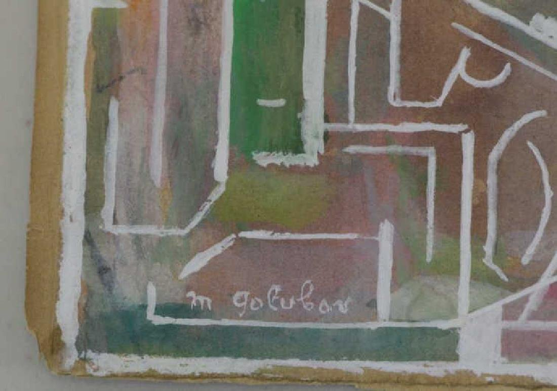 GOLUBOV, Maurice. Three (3) Gouaches on Paper. - 4