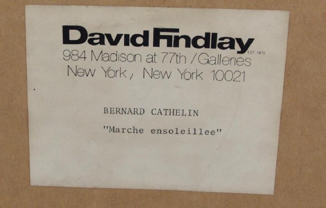 """CATHELIN, Bernard. Oil on Canvas """"Marche - 10"""