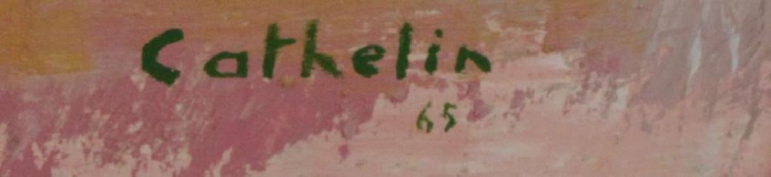 """CATHELIN, Bernard. Oil on Canvas """"Marche - 5"""